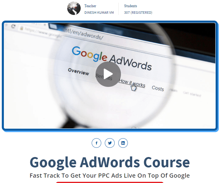 google adwords course by dinesh