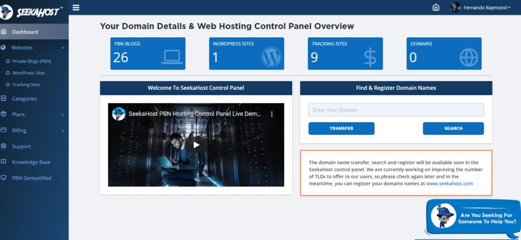 SeekaHost-wordpress-hosting-panel