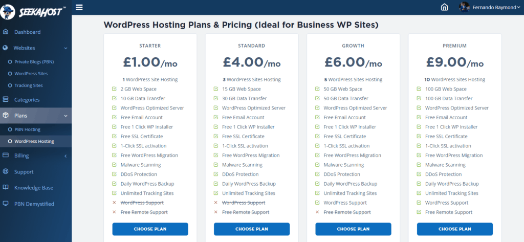 WordPress-hosting-plans-inside-the-portal